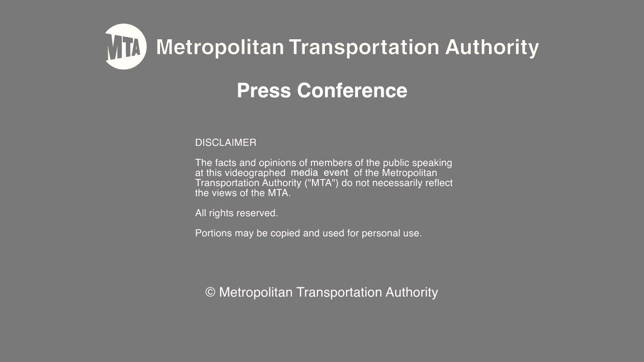 Mta Press Conference 07 11 2019 Public Speaking Fact And Opinion Conference
