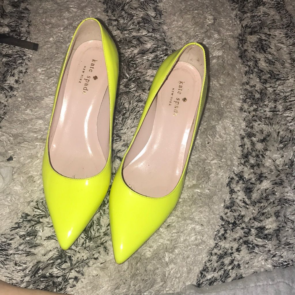 Kate Spade Neon Kitten Heel Pumps Shoes Women Heels Kitten Heel Pumps Pumps Heels