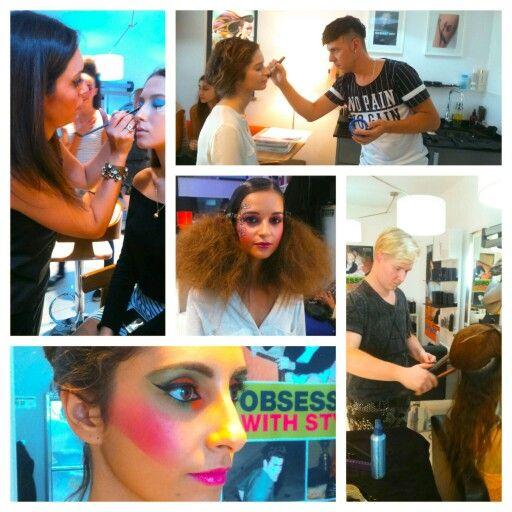 Preparação Hair & Makeup desfile do estilista  Fábio Carvalho. Cabeleireiro HEY HAIR EXPRESS YOUR