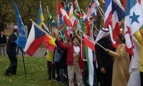 Stockholm International School: colours on parade