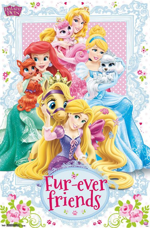 Disney Princess Palace Pets Princesses Fur Ever Friends Poster Livros De Princesas Princesas Disney Personagens Disney