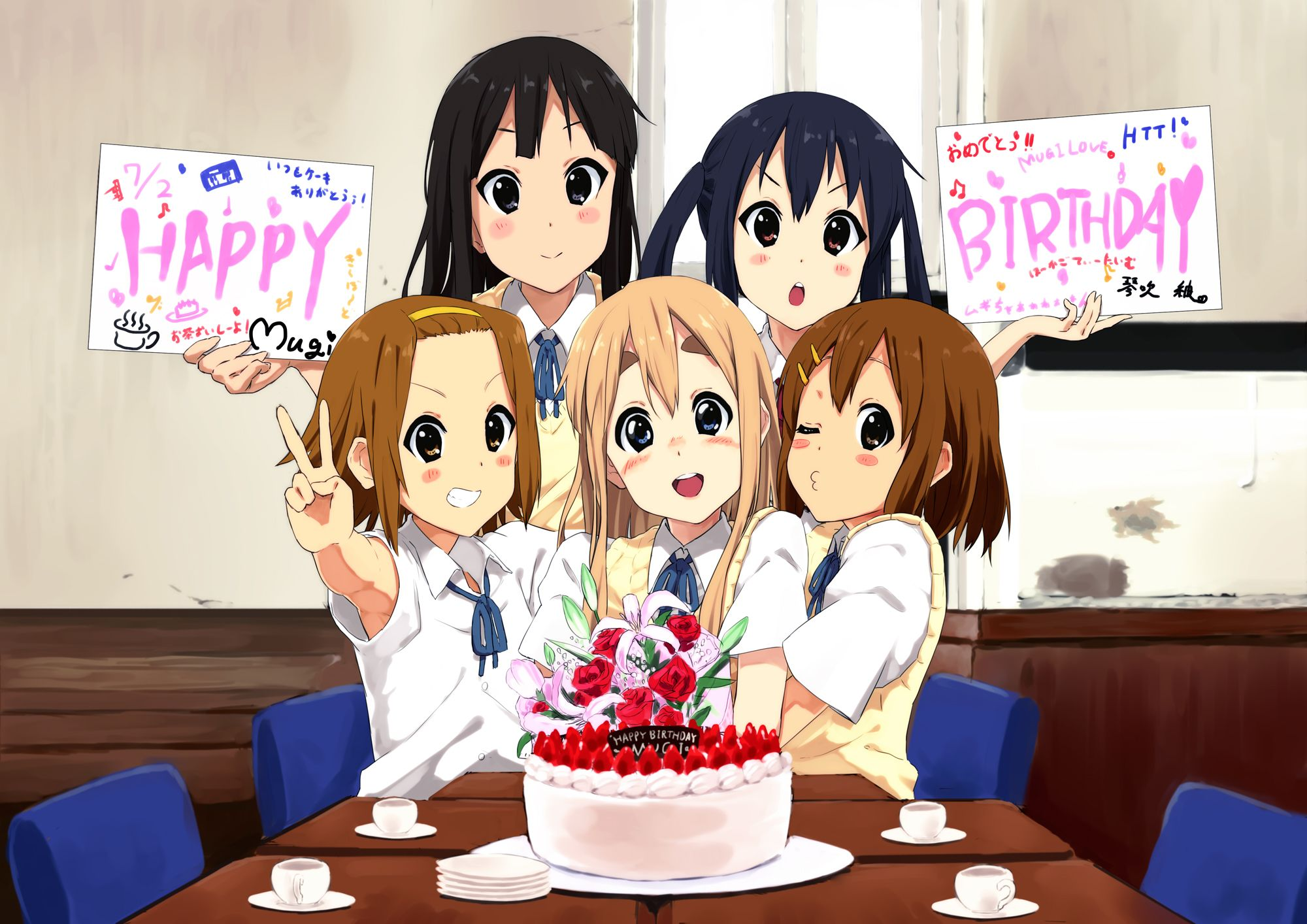 Anime Happy Birthday 5 Anime K on! Pinterest Happy