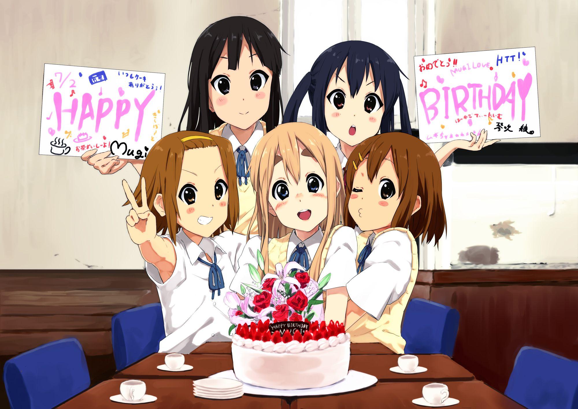 Открытки с днем рождения для аниме, смешные картинки красивые