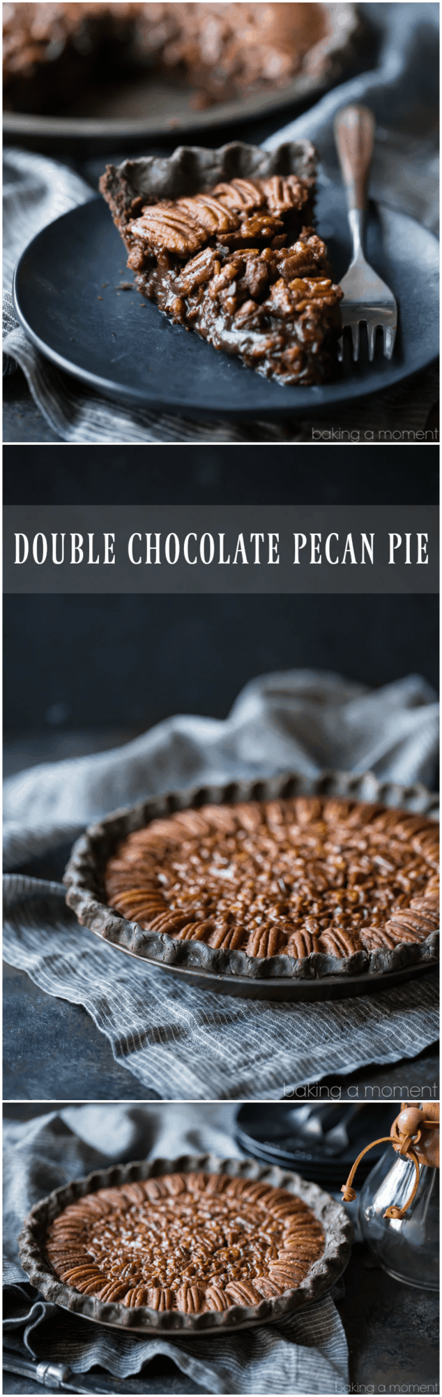 Double Chocolate Pecan Pie So decadent Loved the flaky chocolate crust and the filling tastes just like a candy bar