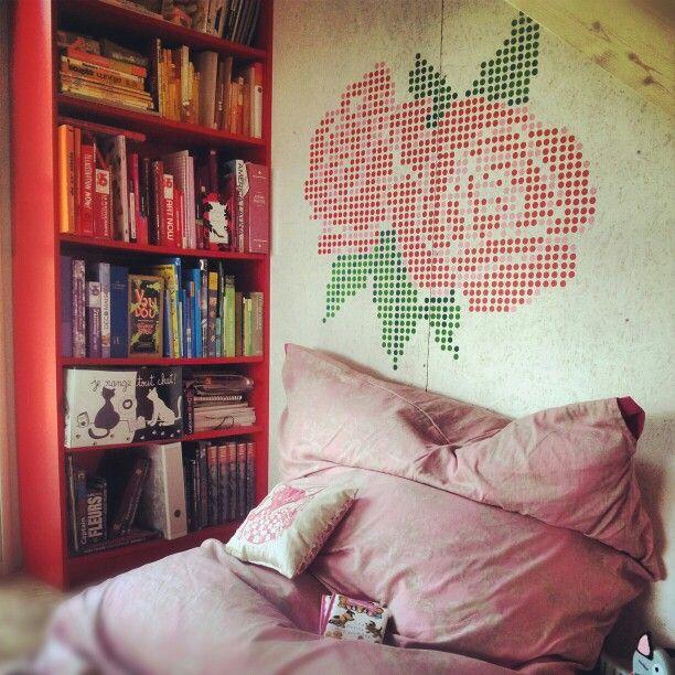 Gommettes+pouf+livres