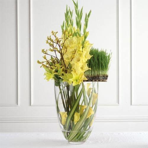 Modern Wedding Altar: Contemporary Wedding Yellow Flowers Altar Arrangement