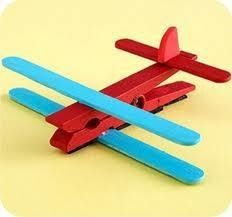 .Airplane craft. It would be perfect for the kids to make for fathers day!!