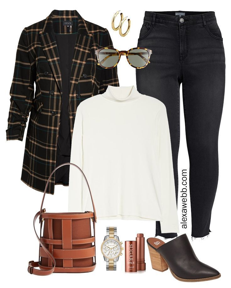 Photo of Plus Size Plaid Blazer Outfit