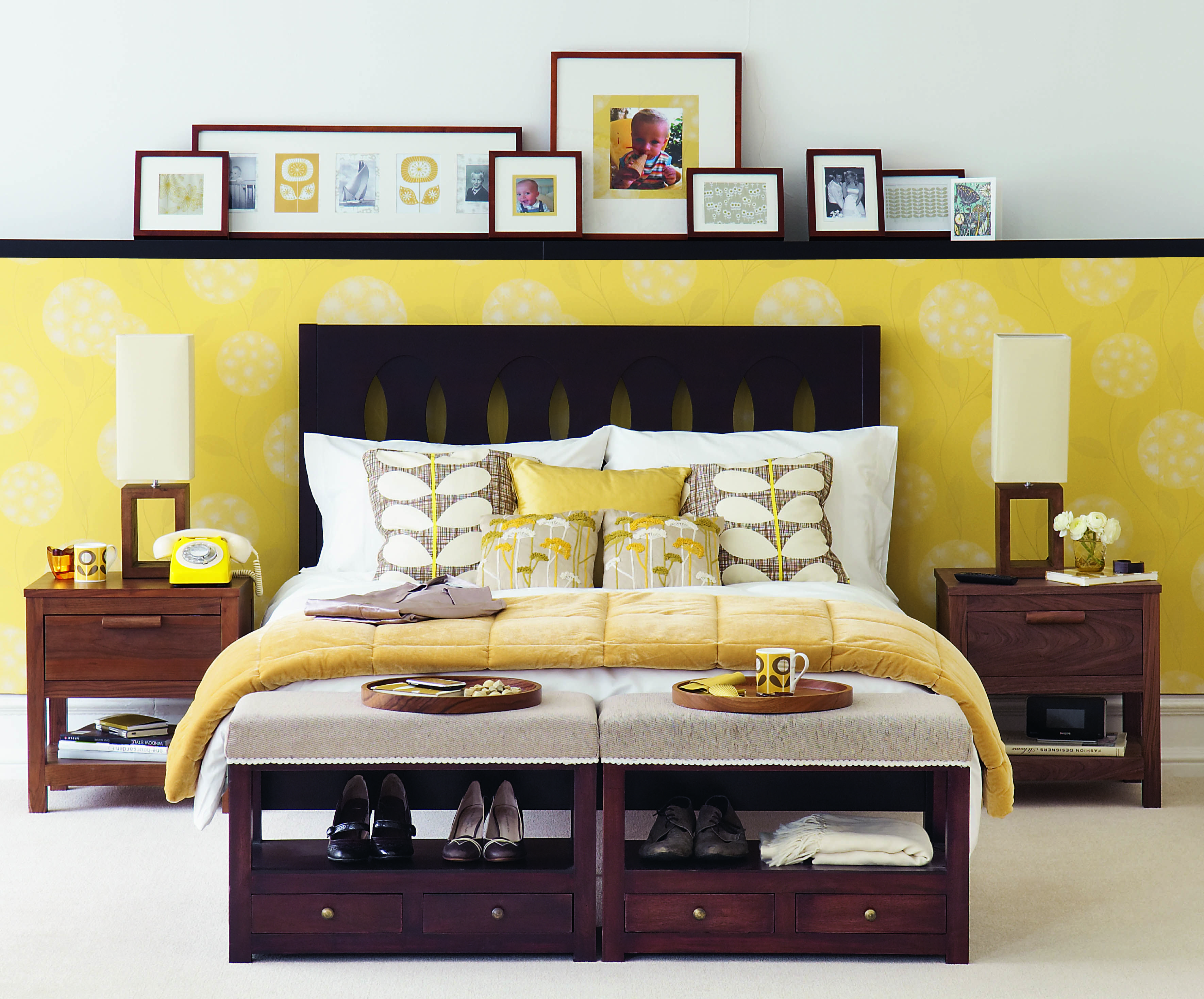 Pinterest Pictures Of Yellow End Tables With Gray Mid Century Modern Bedroom Set Design Ideas You Ll Love