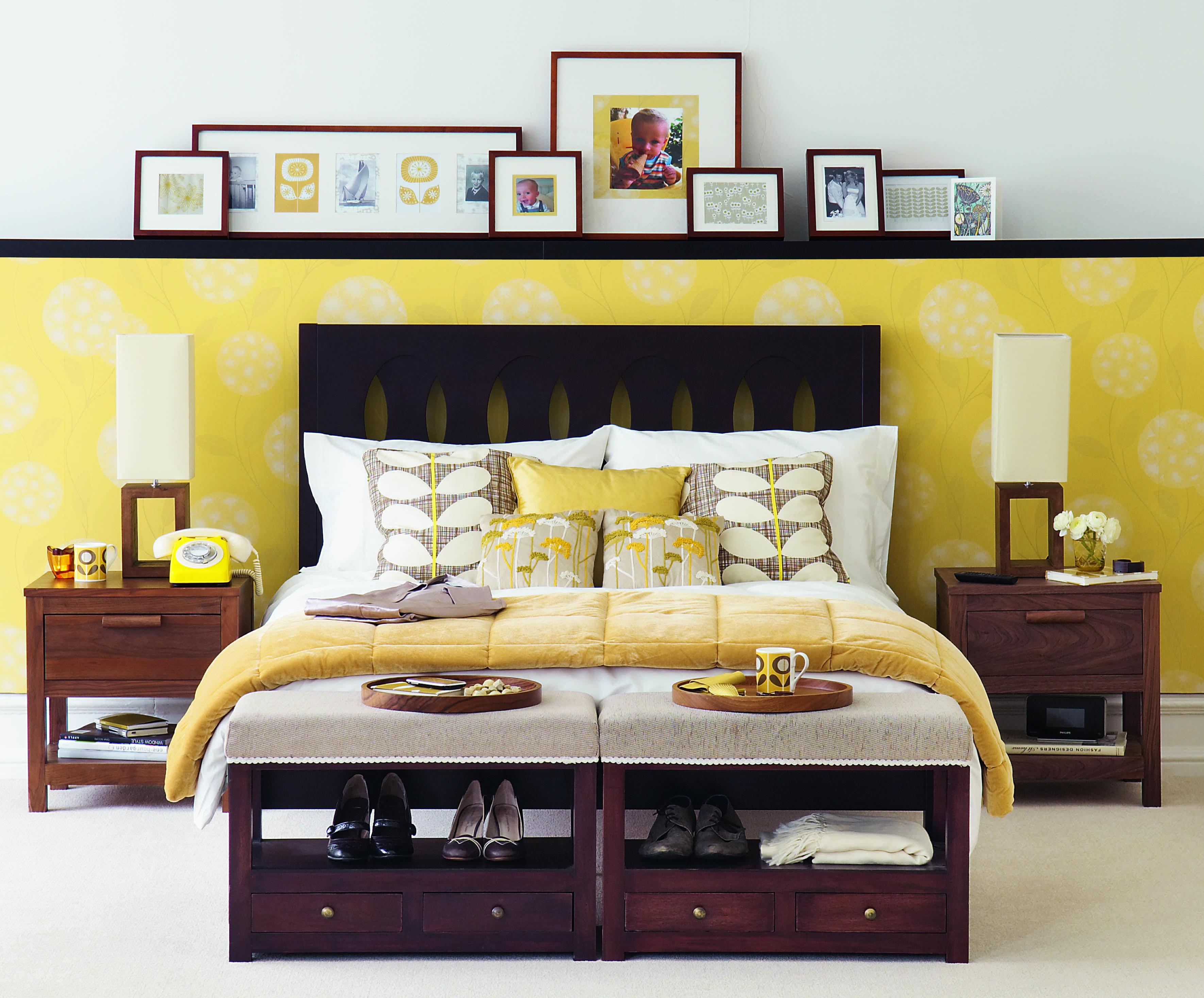 Like the idea of shelf to cut down wallpaper cost. | ideas 4 nu ...