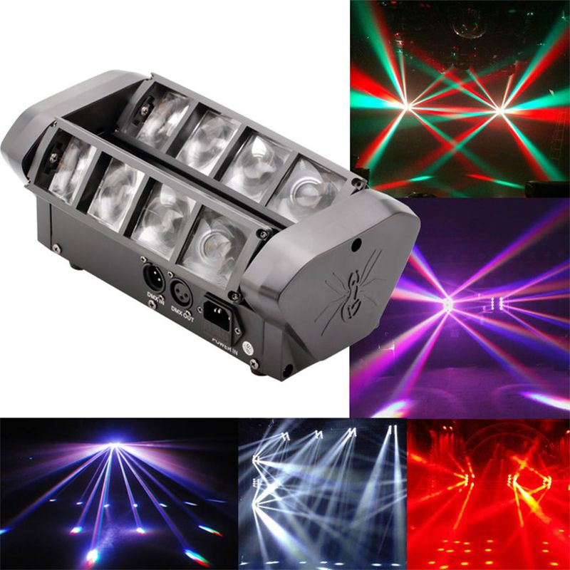 Hoge kwaliteit 8X10 W Mini Led Spider Licht DMX512 LED Moving Head ...