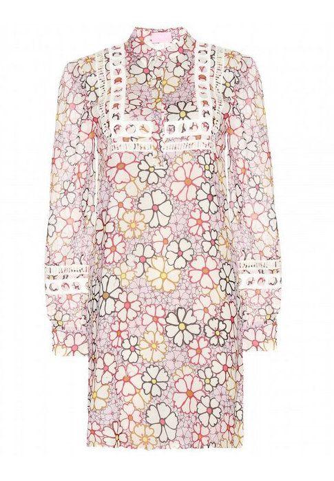 Giamba printed silk dress