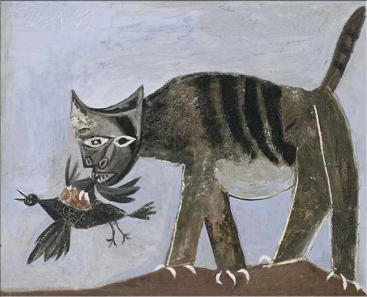 peinture de chats   Picasso 1939   Peintures picasso, Peinture de chat, Picasso