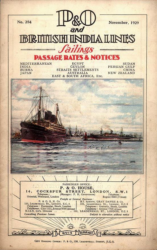 adventures-of-the-blackgang: British India Steam Navigation