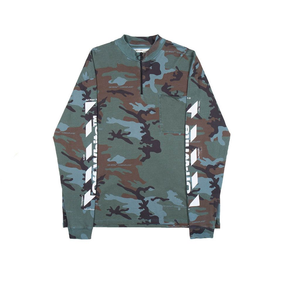 Diag Incomp Zip Mock From The Pre F W2019 20 Off White C O Virgil Abloh Collection In Camouflage Off White Shop Off White Virgil Abloh Off White [ 960 x 960 Pixel ]