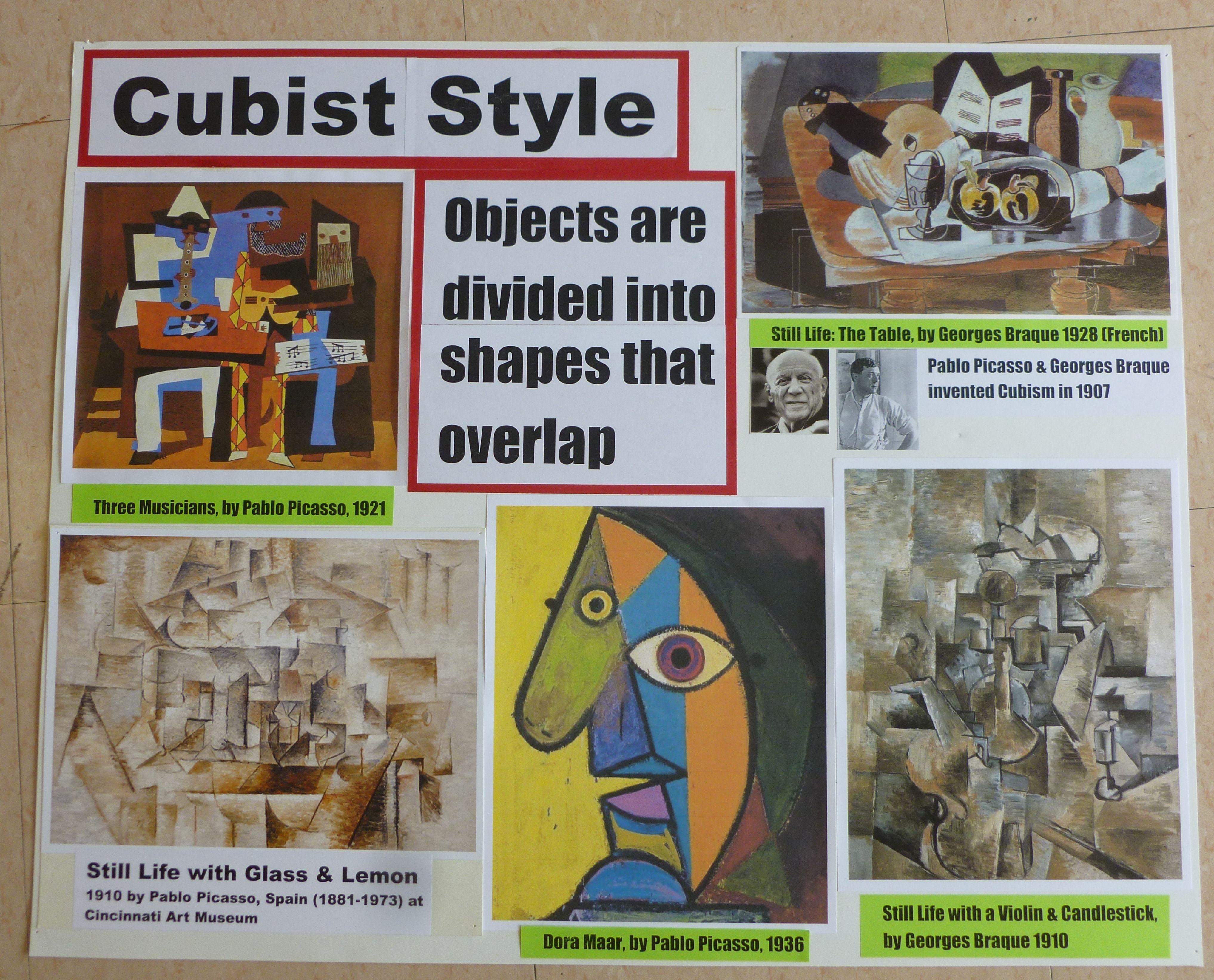 How I Teach Styles Of Art Cubist