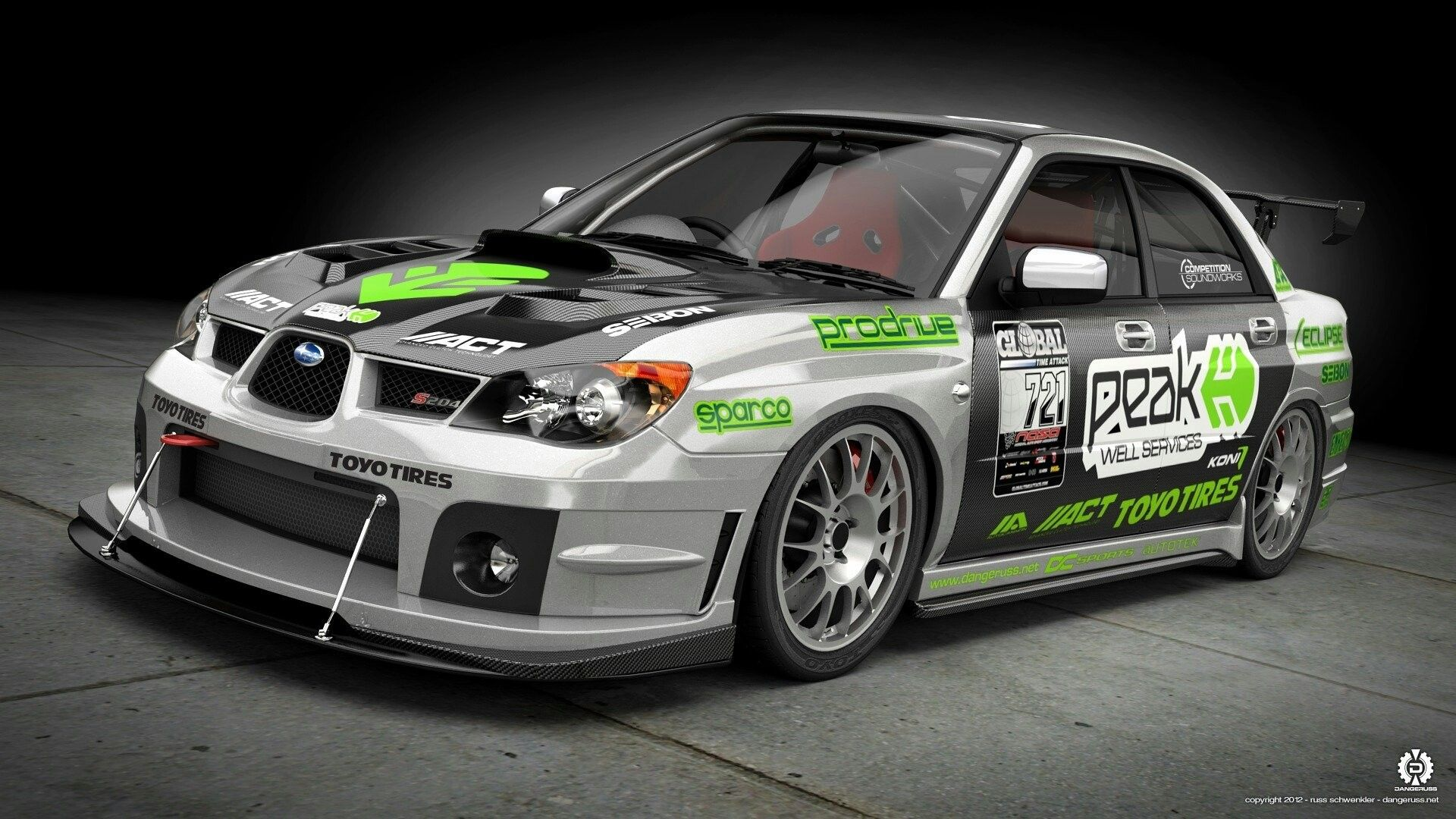 subaru impreza wrx sti front race car subaru impreza kit art HD ...