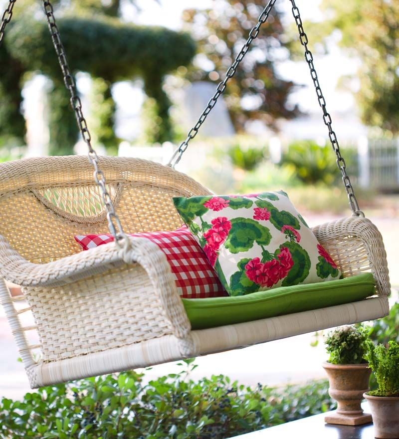 Our Prospect Hill Wicker Swing will transform