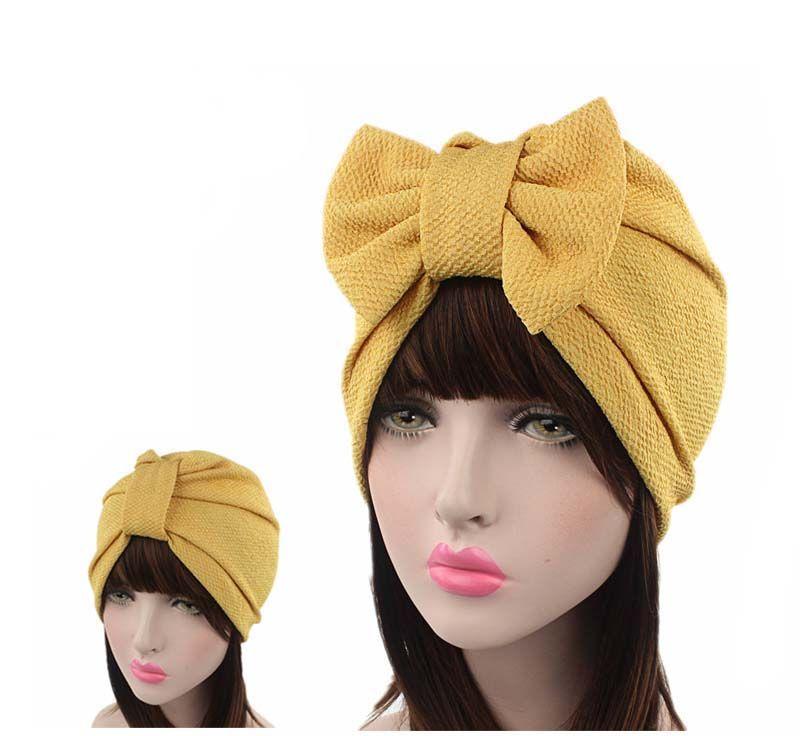 Nuove donne dell'arco di lusso Turbante Cappello Elegante tappo Chemio