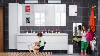 Ein bad f r die ganze familie godmorgon waschbecken - Waschbecken spiegel kombination ...