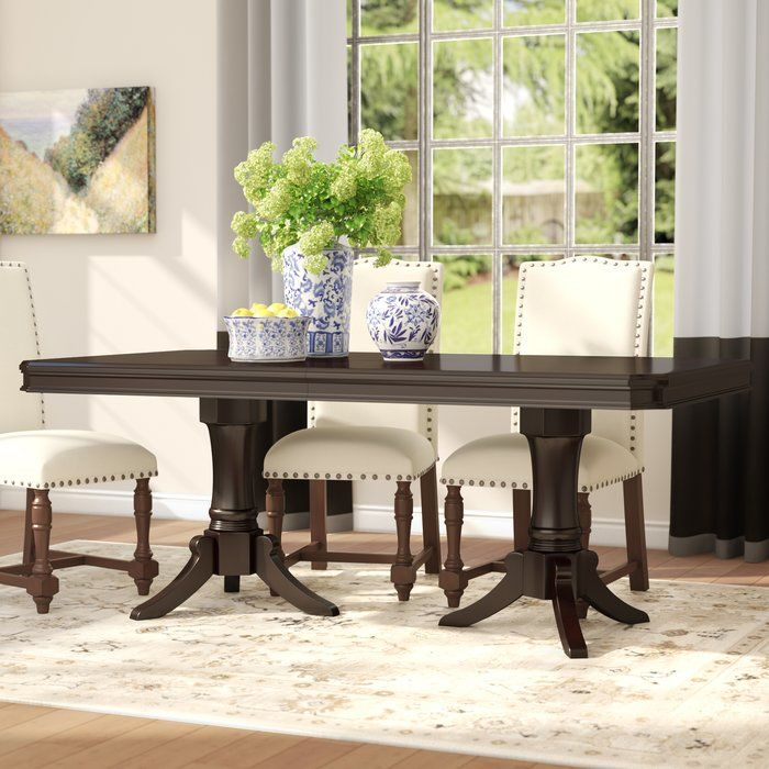 Refined And Elegant This Must Have Table Is An Instant Update For Your Dining Room Or Kitchen Pair It Dining Table Solid Wood Dining Table Wood Dining Table