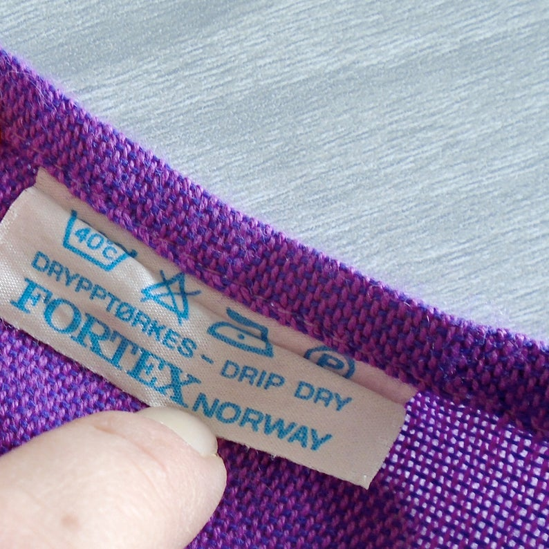 bright midcentury modern vintage scandinavian tablecloth scandinavian table linen vintage purple tablecloth fortex norway tablecloth