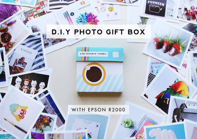 D I Y Photo Gift Box With Epson Stylus Photo R2000 Photo Gifts Diy Diy Gifts Gift Box Design