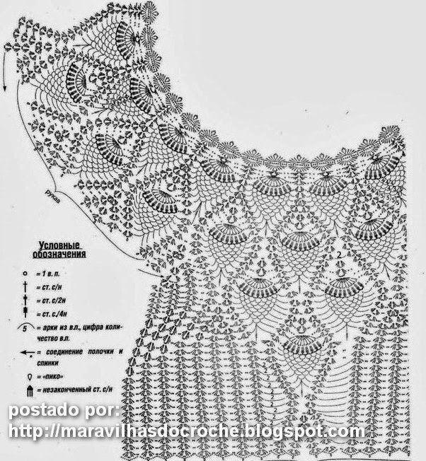 крючок со схемами | Esquemas, Ganchillo y Blusas