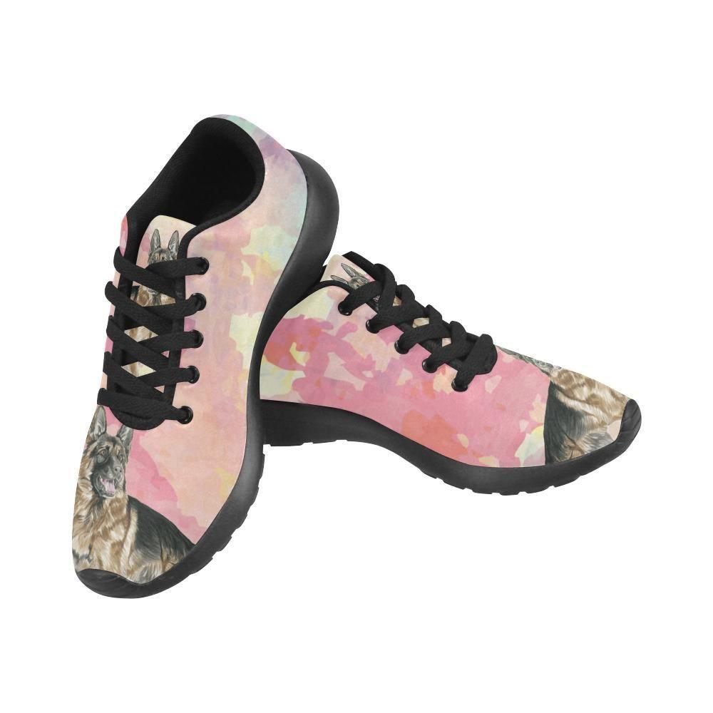 92aefc0f4622  TeeAmazing -  e-joyer German Shepherd Water Colour No.1 Black Sneakers. Black  SneakersDachshundRussell Terrier