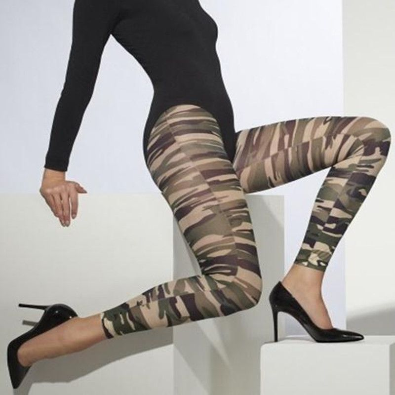 Women Ukraine Camouflage Pants Elasticity Army Military High Waist - army height and weight chart