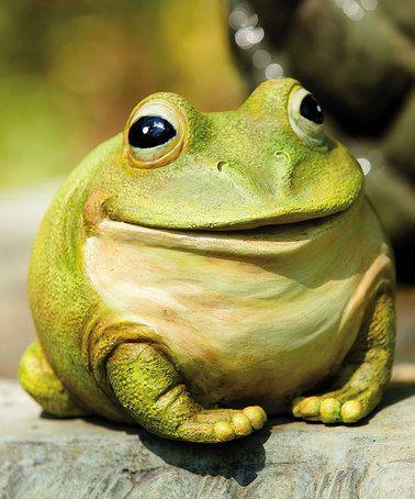 Another Great Find On Zulily Cheerful Portly Frog Statue Zulilyfinds Mit Bildern Frosch Dekorationen