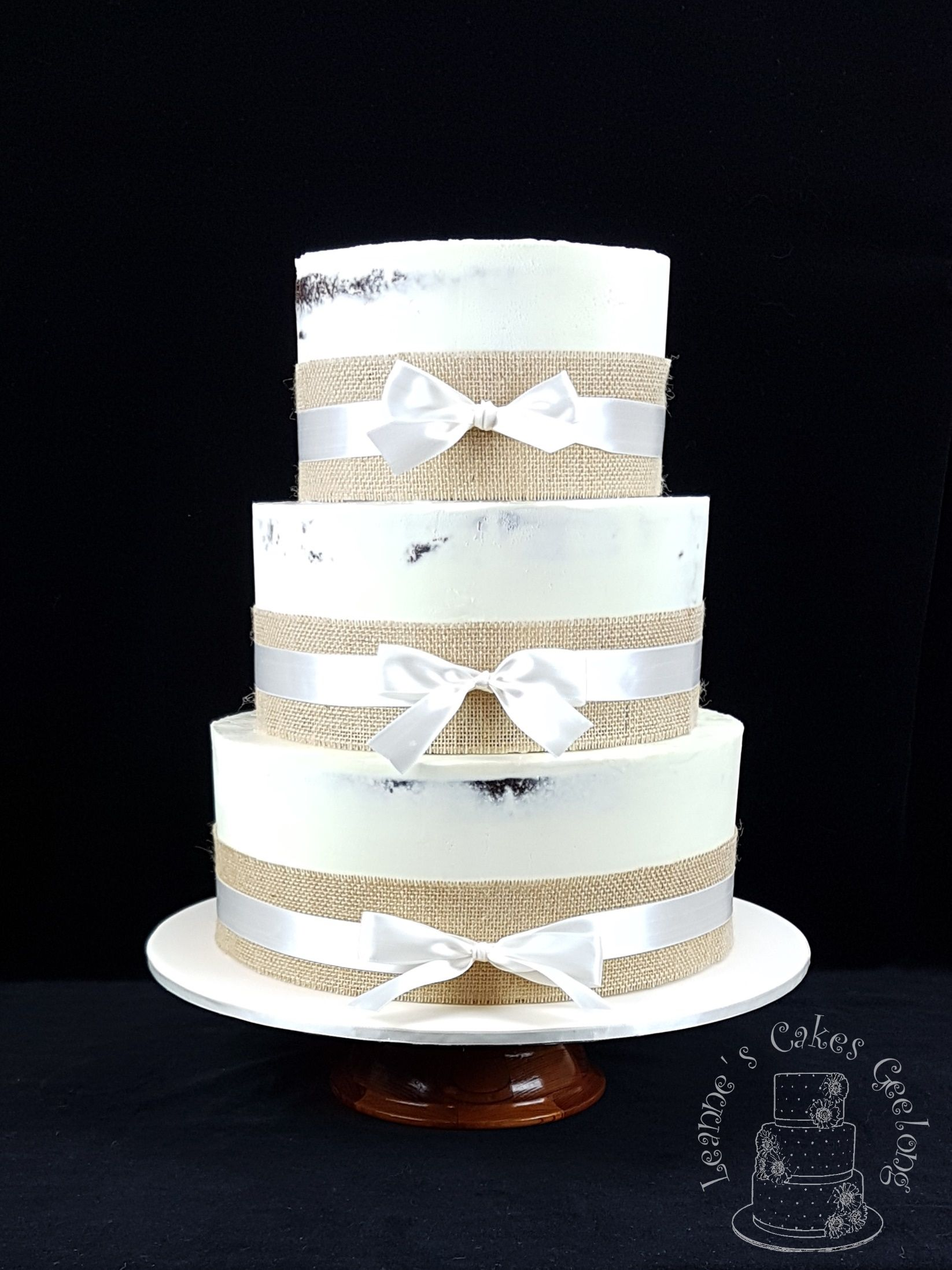 Rustic Wedding Cake: Laura and Gary chose a semi-naked chocolate mud ...