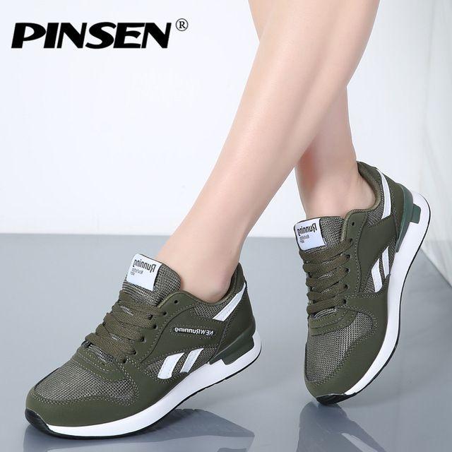 ec8061de1 PINSEN Sneakers Women New Unisex Spring Casual Shoes Basket Flats Female  Platform Shoes Woman Trainers Shoes