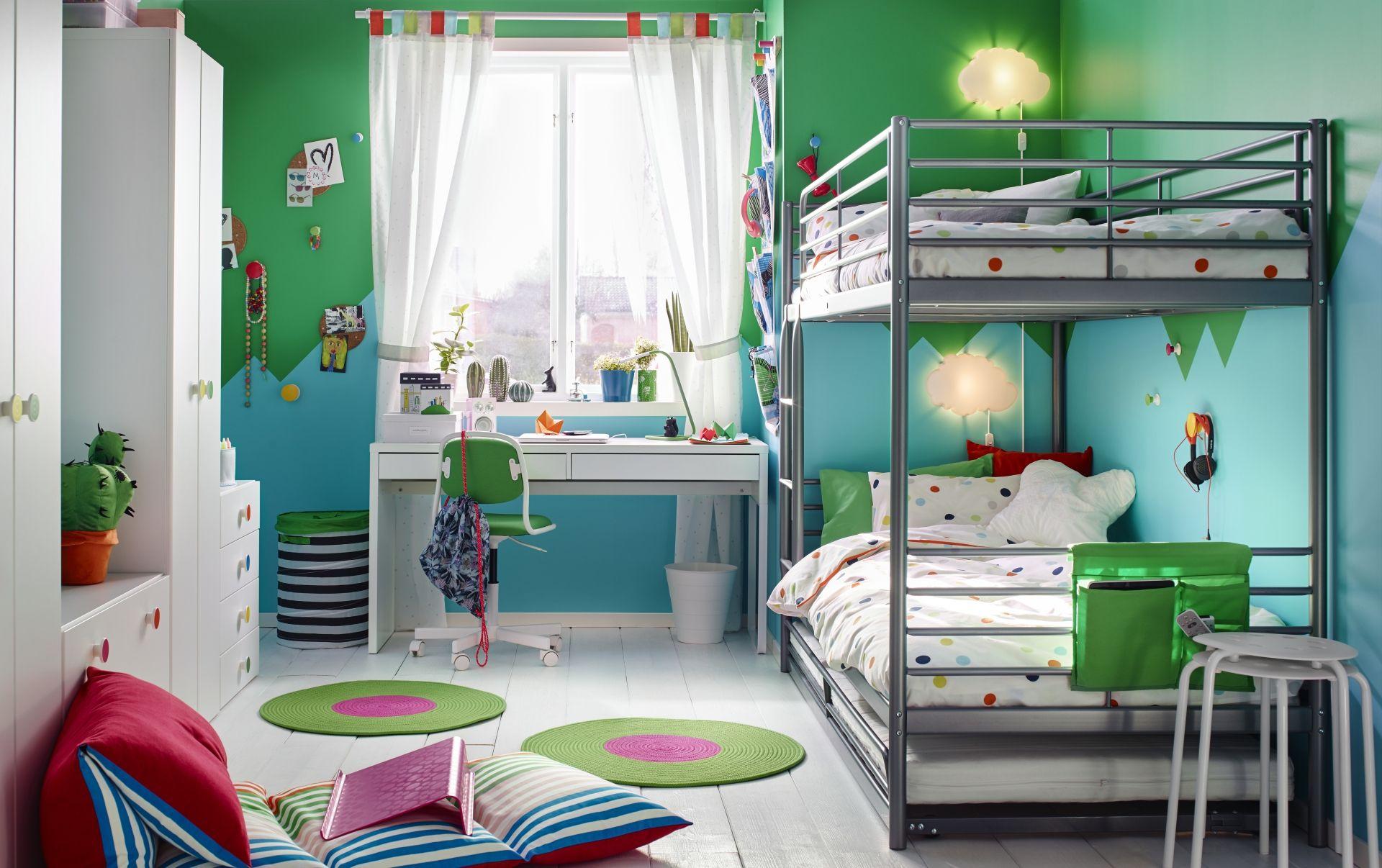 Slaapkamer Lamp Kind : SvÄrta frame stapelbed zilverkleur kinderen