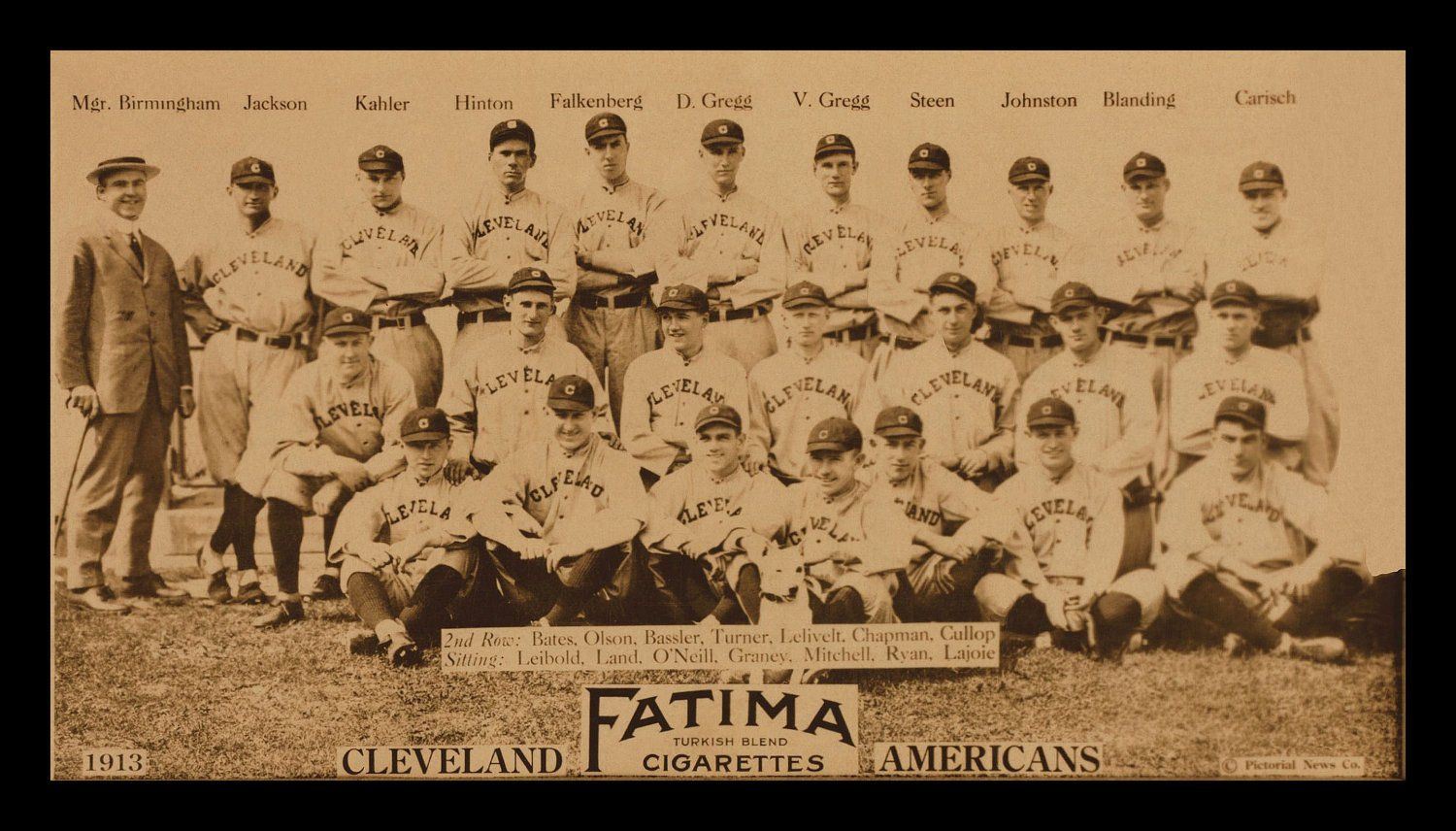 1913 Cleveland Naps Indians Team Picture Digitally Remastered Fine Art Print Shoeless Joe Jackson N Vintage Baseball Cleveland Baseball Baseball Photos