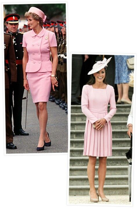Princess Diana & Duchess Kate in pink!