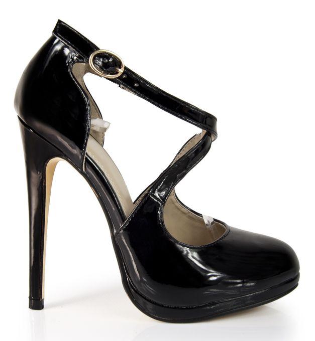 Lakierowane Czolenka Obcas Lakierki Pasek Heels Shoes Fashion