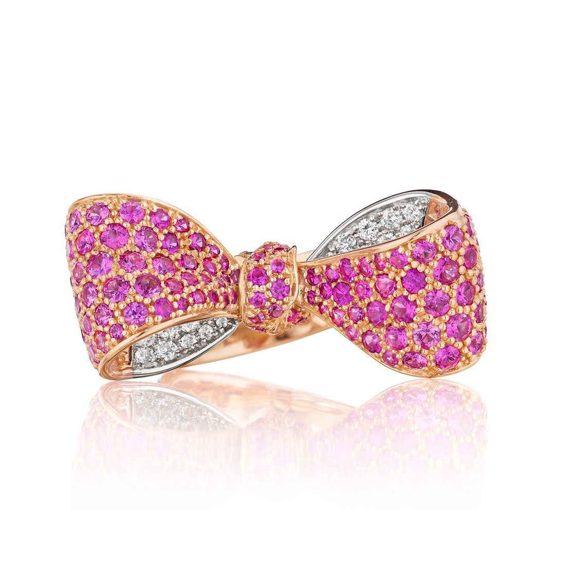 Mimi So - BOW PINK SAPPHIRE AND WHITE DIAMOND RING Retail: $8,700 ...