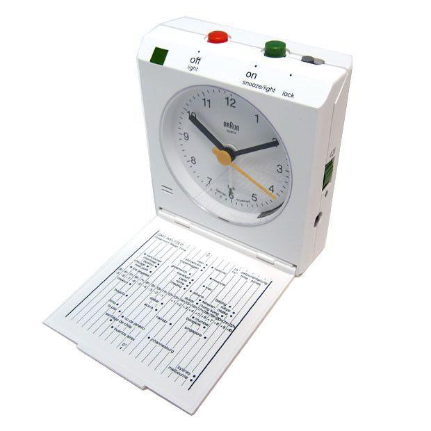 Braun Flip Down Travel Alarm Clock White Bn C005 Wh Travel Alarm Clock Alarm Clock Clock