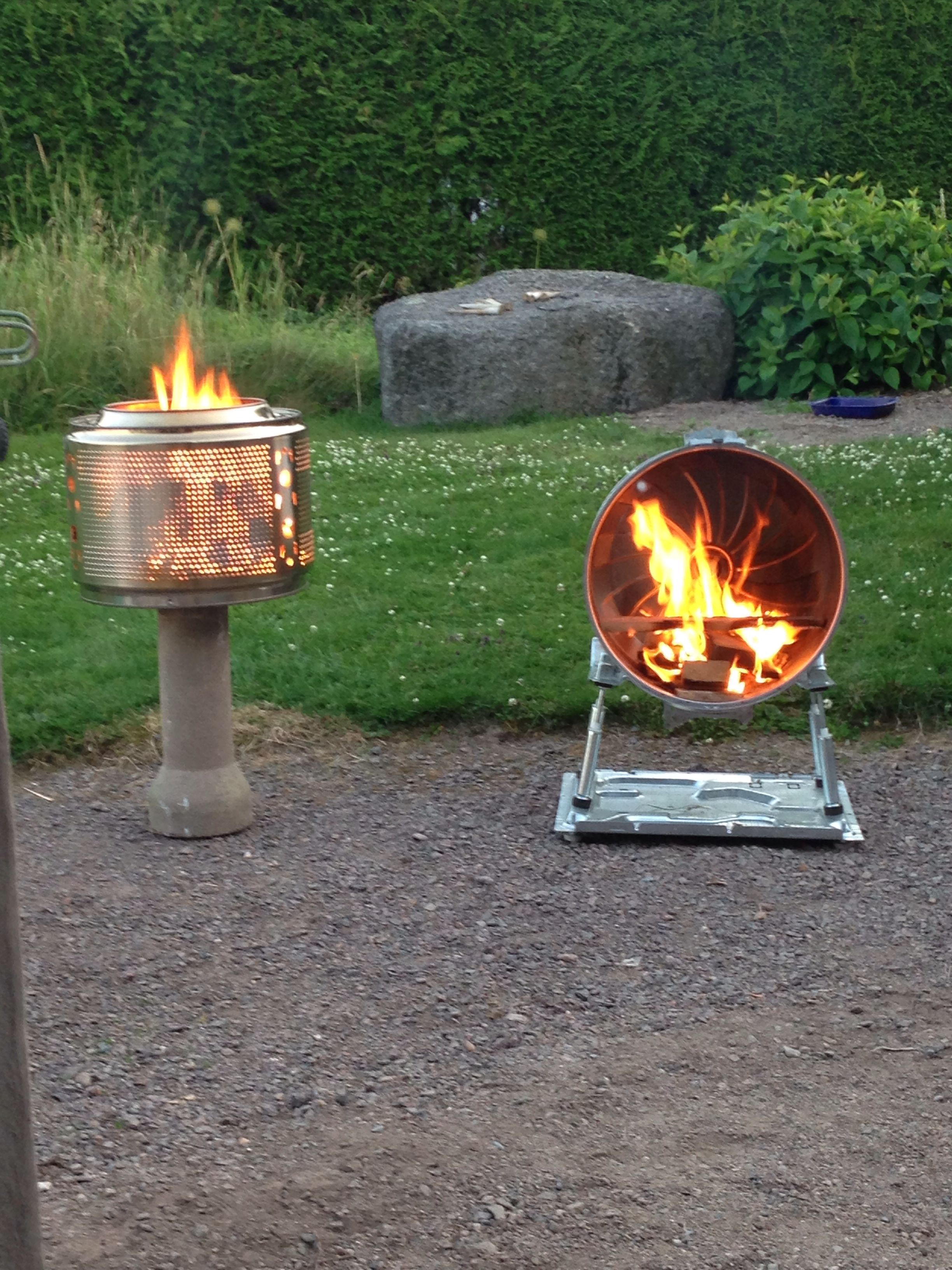 Fire pits from outer and inner drum from a washing machine ...