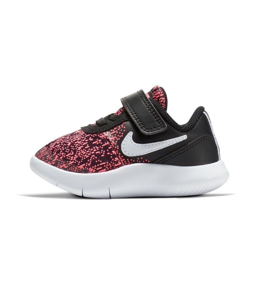 bebaf6c20dfd Nike Flex Contact TD Toddler Black White Racer Pink
