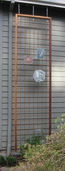 Do it yourself trellis wire trellis gardens and vertical herb gardens hanging wire trellis solutioingenieria Gallery