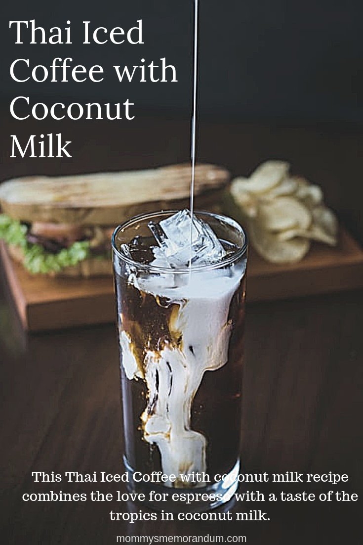 Thai Iced Coffee with Coconut Milk Recipe This Thai Iced Coffee with coconut milk recipe combines my love for espresso with a taste of the tropics in coconut milk.