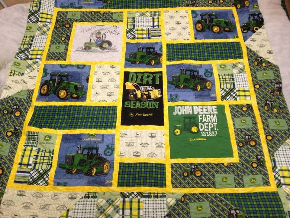 John Deere Quilt Quilting And Sewing Pinterest Babies Panel