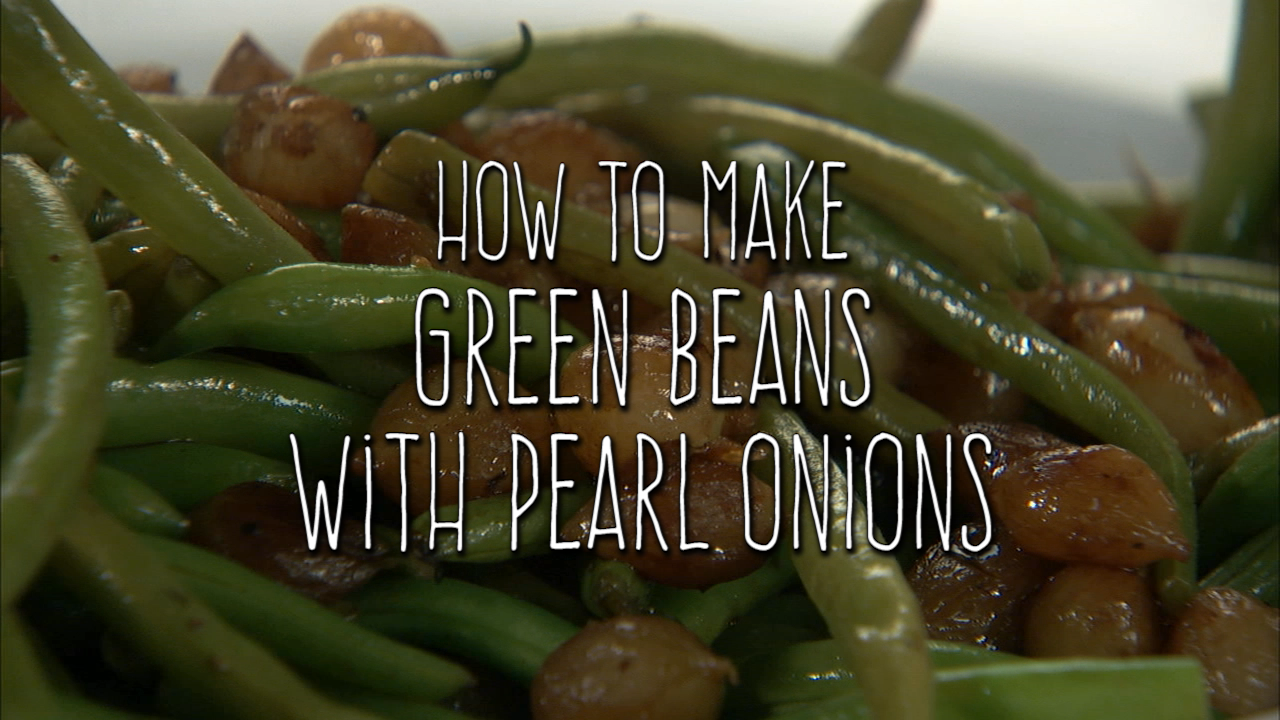 Green Beans with Pearl Onions
