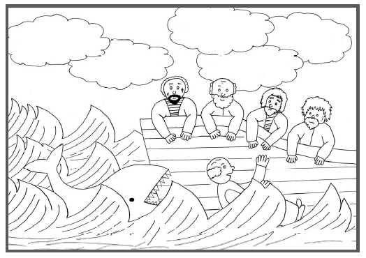 Kleurplaat Noach bijbelse figuren Kleurplatennl t