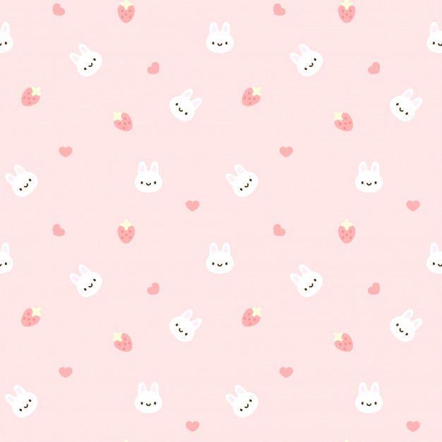 Bunny Seamless Pattern Background