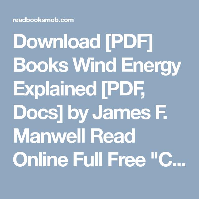 Energy manwell wind pdf explained