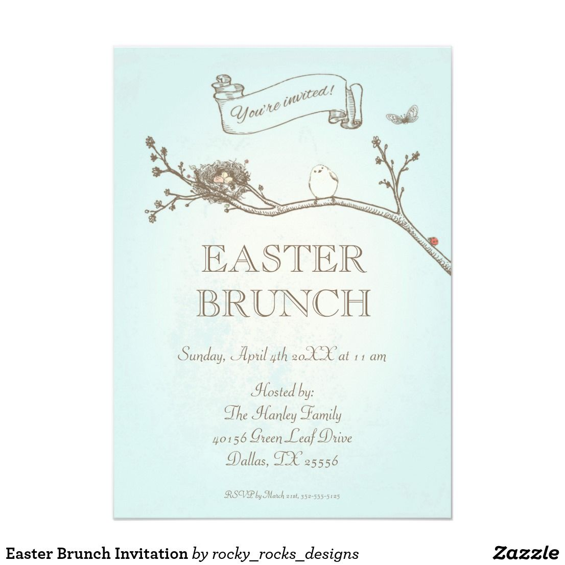 easter brunch invitation in 2018 happy holidays pinterest