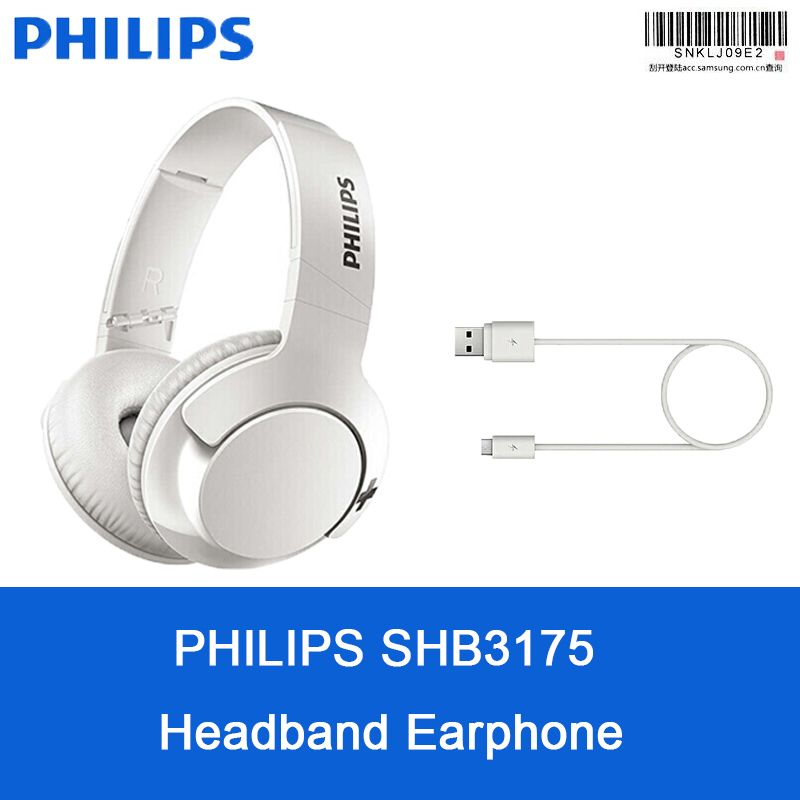 Original Philips Shb3175 Wireless Headset Bluetooth 4 1 Headband Earphone With Microphone For Ios Android Supoort Official Earphone Wireless Headset Microphone